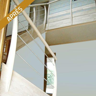 Escalier bossard, après rénovation