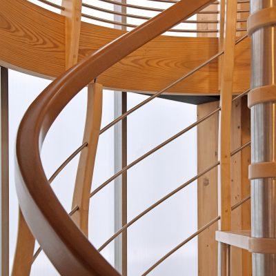 Escalier Helicoïdal, une réalisation des escaliers Bossard