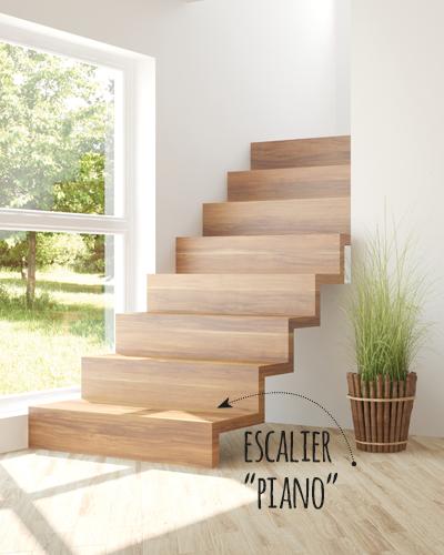 AUDACIEUX, escalier piano